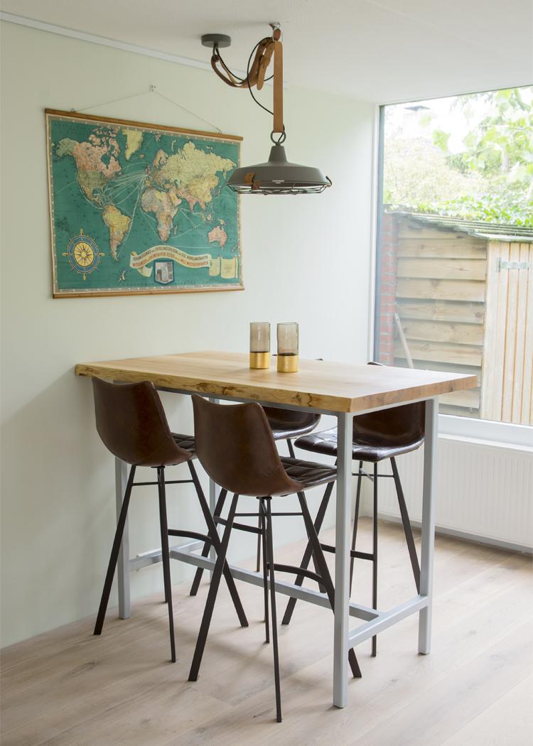wooden table by tafelsmaak